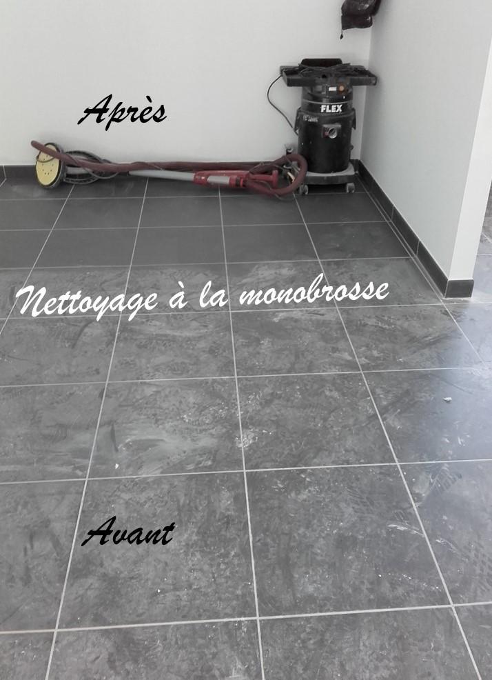 Nettoyage du sol à la monobrosse